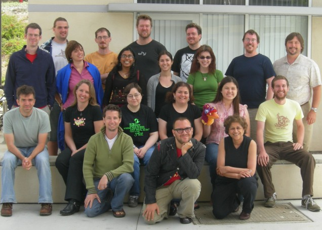 My Clarion class--2007, Cory Doctorow up front.