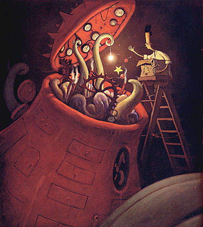 Illustration from The Lost Thing by Shaun Tan