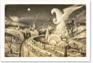 Illustration from The Arrival by Shaun Tan