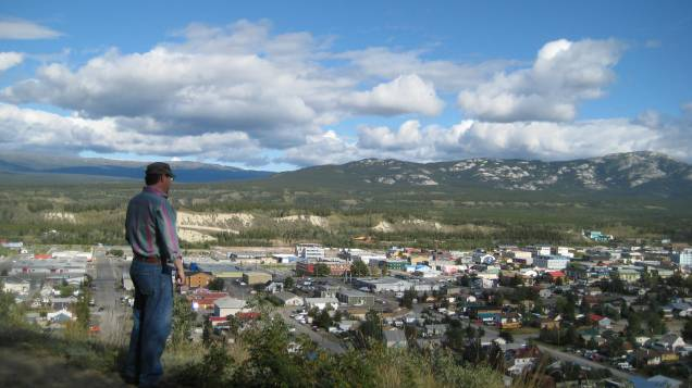 Jerome overlooking downtown Whitehorse
