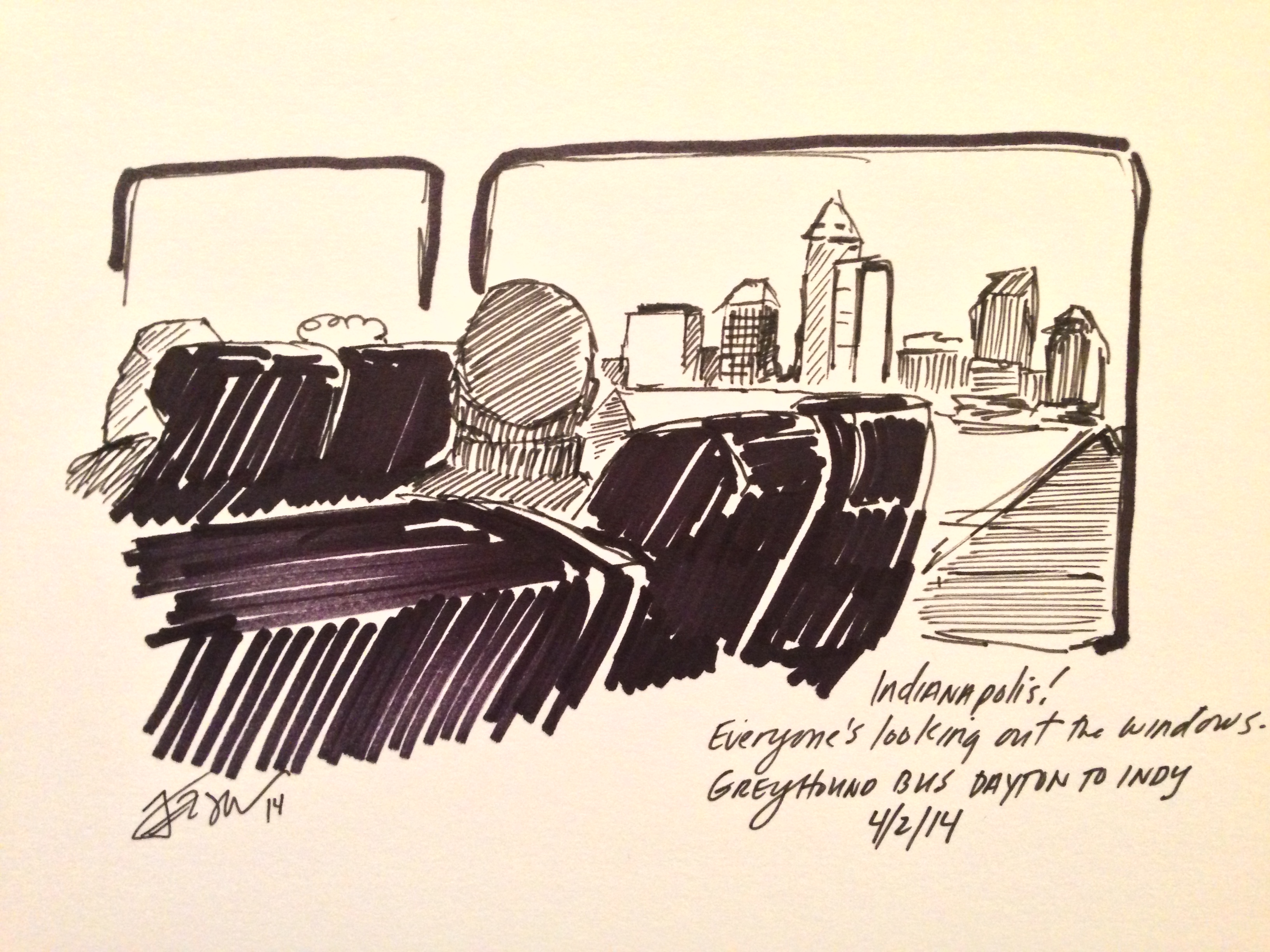 Greyhound Bus Posts Interview With Me On My Sketching Trip Bear