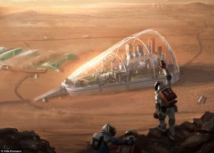 Concept Art for Martian colony by Ville Ericsson